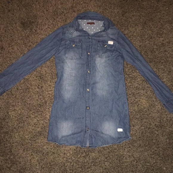 7 For All Mankind Tops - Button up jean material shirt (girls size) medium